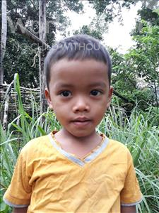 Choose a child to sponsor, like this little boy from Soutr Nikom, Neng age 4