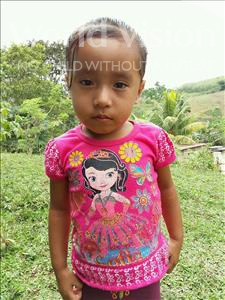 Choose a child to sponsor, like this little girl from Maya, Mildren Norelia age 4