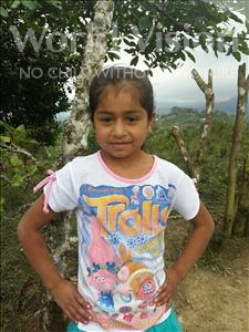 Glirian Maholy, aged 8, from Honduras, is hoping for a World Vision sponsor