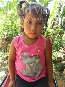 Choose a child to sponsor, like this little girl from Maya, Leda Onelsi age 4