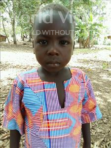 Moses, aged 5, from Sierra Leone, is hoping for a World Vision sponsor