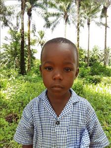 Mohamed, aged 6, from Sierra Leone, is hoping for a World Vision sponsor