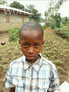 Choose a child to sponsor, like this little boy from Jaiama Bongor, Yayah age 10
