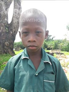 Choose a child to sponsor, like this little boy from Jaiama Bongor, Tommy age 7