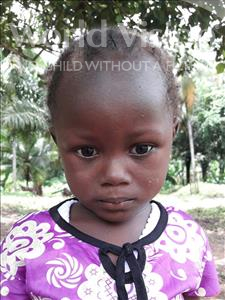 Choose a child to sponsor, like this little girl from Jaiama Bongor, Fatmata age 4