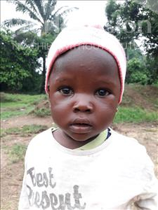 Choose a child to sponsor, like this little girl from Jaiama Bongor, Balu age 1