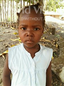Choose a child to sponsor, like this little girl from Jaiama Bongor, Kanday age 5