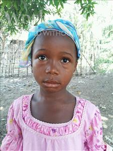 Choose a child to sponsor, like this little girl from Jaiama Bongor, Monjama age 8