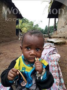 Choose a child to sponsor, like this little boy from Jaiama Bongor, Hassanatu age 1