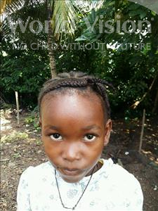 Choose a child to sponsor, like this little girl from Jaiama Bongor, Hawa age 6