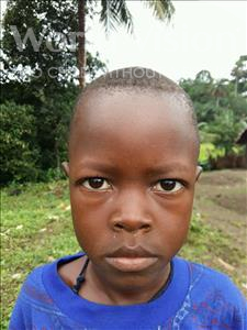 Choose a child to sponsor, like this little boy from Jaiama Bongor, Ibrahim age 7