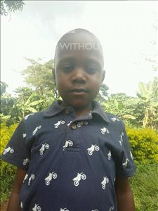 Choose a child to sponsor, like this little boy from Kibiga-Mulagi, Ssematimba age 5