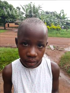 Choose a child to sponsor, like this little girl from Kibiga-Mulagi (Kimu), Joyce age 7