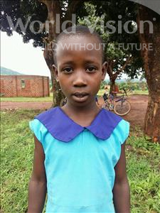 Margret, aged 5, from Uganda, is hoping for a World Vision sponsor