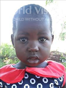 Choose a child to sponsor, like this little girl from Busitema, Nowel age 3