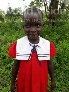Martha, aged 4, from Uganda, is hoping for a World Vision sponsor