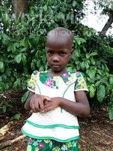 Choose a child to sponsor, like this little girl from Ntwetwe, Vanesa age 5