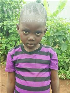 Sylvande, aged 5, from Uganda, is hoping for a World Vision sponsor
