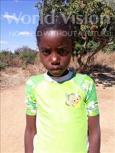 Choose a child to sponsor, like this little girl from Keembe, Vanesa age 7