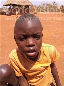 Choose a child to sponsor, like this little boy from Keembe, Blessed age 6