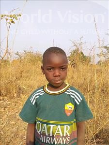 Mike, aged 4, from Zambia, is hoping for a World Vision sponsor