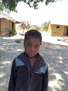 Mutinta, aged 5, from Zambia, is hoping for a World Vision sponsor