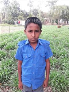 Choose a child to sponsor, like this little boy from Ghoraghat, Sumon age 10