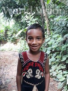 Choose a child to sponsor, like this little girl from Ghoraghat, Moriom Jannat Snigdha age 5