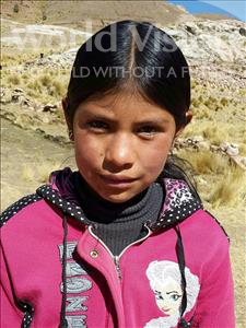 Choose a child to sponsor, like this little girl from Mosoj Punchay, Ferminia age 12