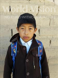 Choose a child to sponsor, like this little boy from Khantati, Luis Ludwing age 12