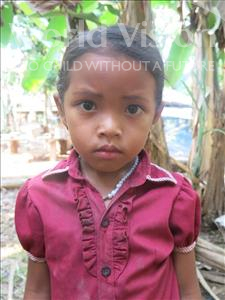 Choose a child to sponsor, like this little girl from Soutr Nikom, Miny age 6
