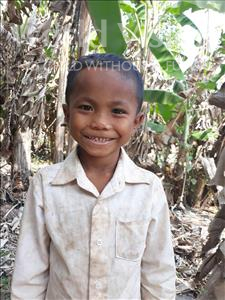 Choose a child to sponsor, like this little boy from Soutr Nikom, Dara age 8