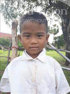 Choose a child to sponsor, like this little boy from Soutr Nikom, Mesa age 6