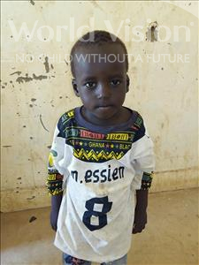 Choose a child to sponsor, like this little boy from Sirba, Bourrima age 4