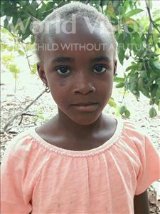 Hafisatu, aged 7, from Sierra Leone, is hoping for a World Vision sponsor