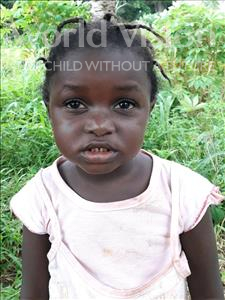 Aminata, aged 4, from Sierra Leone, is hoping for a World Vision sponsor
