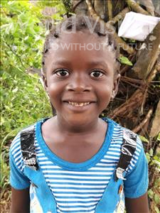 Choose a child to sponsor, like this little girl from Imperi, Kadiatu age 6