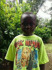 Choose a child to sponsor, like this little boy from Imperi, Mohamed age 5