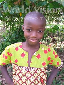 Yanguba, aged 7, from Sierra Leone, is hoping for a World Vision sponsor