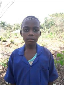 Dauda, aged 8, from Sierra Leone, is hoping for a World Vision sponsor