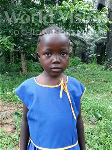 Choose a child to sponsor, like this little girl from Tegloma, Lucy age 6