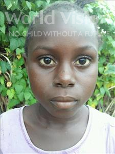 Choose a child to sponsor, like this little girl from Jaiama Bongor, Tenneh age 10