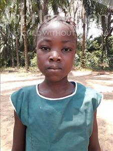 Choose a child to sponsor, like this little girl from Jaiama Bongor, Mamie Isatu age 8
