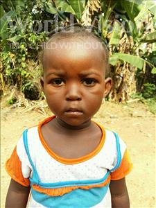 Choose a child to sponsor, like this little boy from Jaiama Bongor, Fatmata age 3