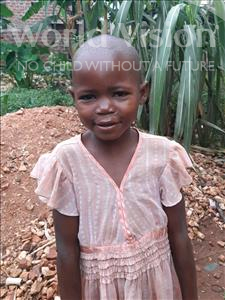 Choose a child to sponsor, like this little girl from Ntwetwe, Scovia age 5