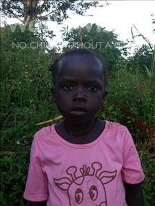 Annet, aged 5, from Uganda, is hoping for a World Vision sponsor