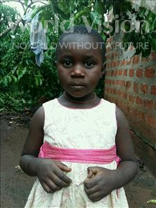 Zahara, aged 4, from Uganda, is hoping for a World Vision sponsor