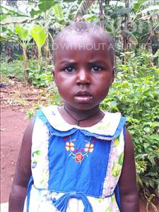 Choose a child to sponsor, like this little girl from Ntwetwe, Lucky age 3