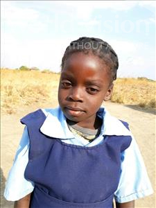 Precious, aged 7, from Zambia, is hoping for a World Vision sponsor