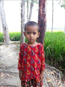 Choose a child to sponsor, like this little girl from Ghoraghat, Sinhatun age 4